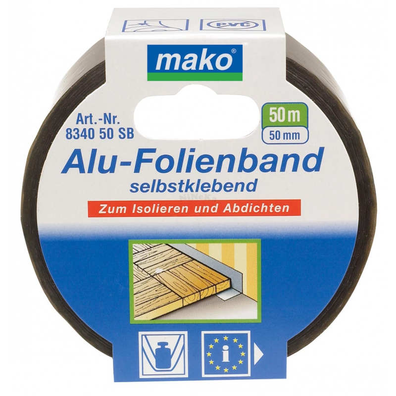 Aluband Aluminiumband Klebeband alubedampft 50mm x 50m (0,10EUR/m)
