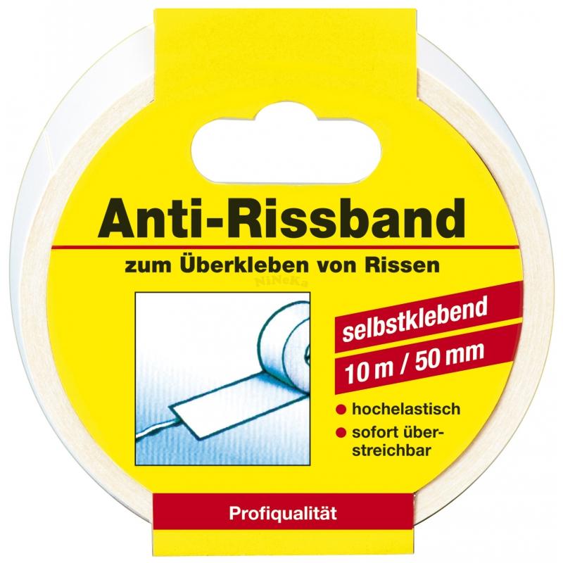 Anti Rissband weiss Fugenband Spezialvlies selbstklebend 50mm x 10m (0,45EUR/m)