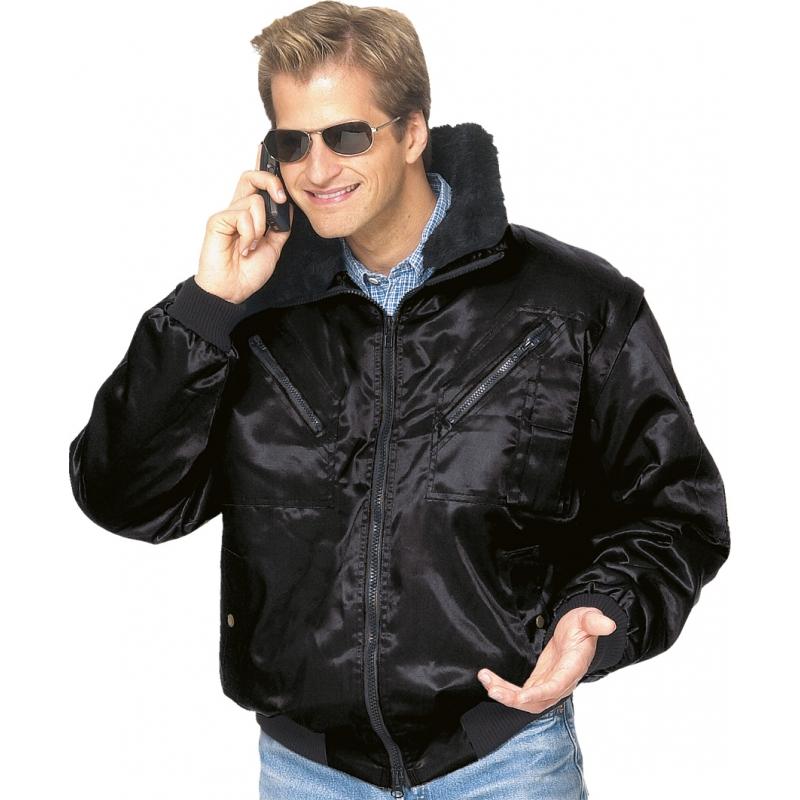Arbeitsjacken Winterjacken Pilotenjacken Pilotenjacke schwarz Gr. XXL schwarz