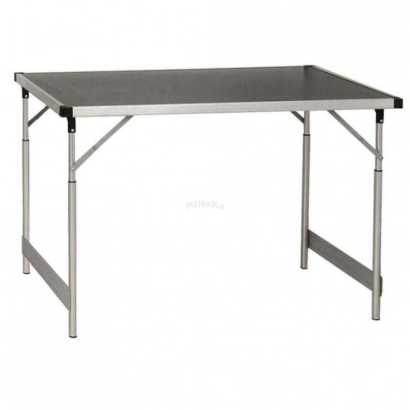 Aluminium Klapptisch Camping Tisch höhenverstellbar 60 x 100 cm