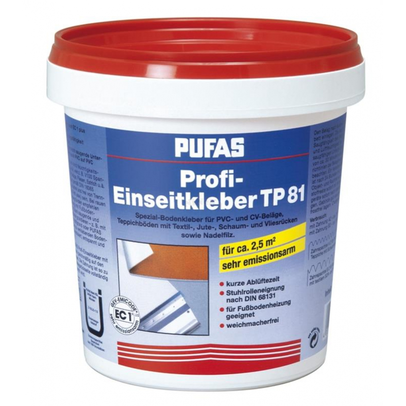 Einseitkleber Teppichkleber Bodenbelag Kleber TP 81  PUFAS