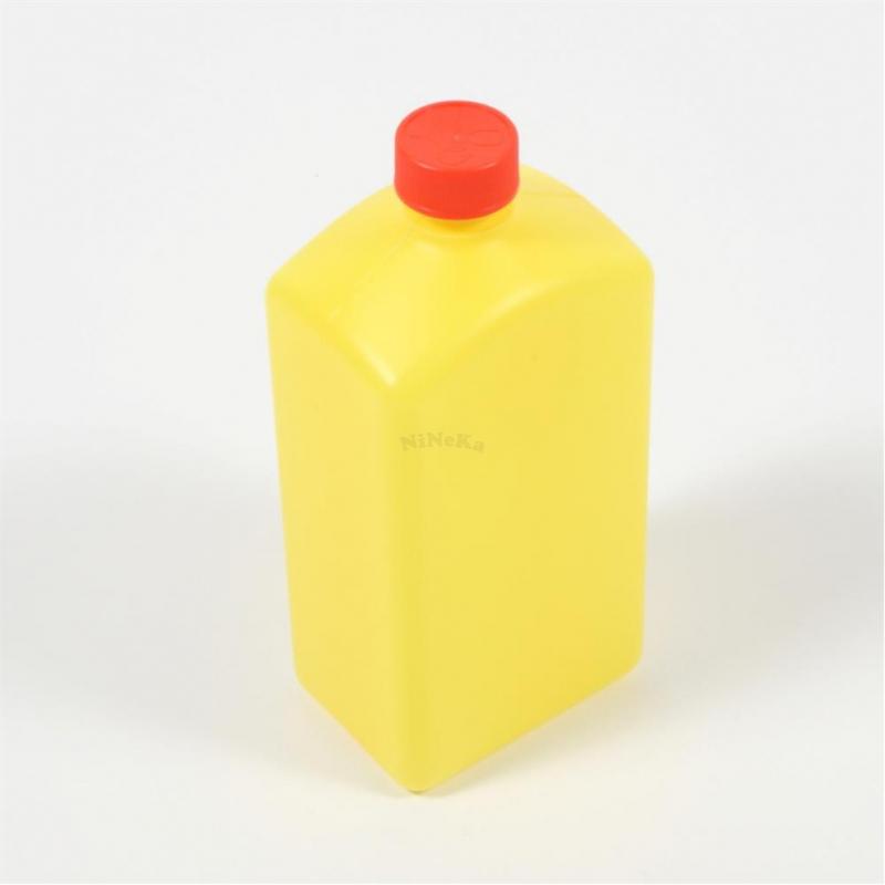 Flasche aus Kunststoff LEER gelb Kunststoffflasche bis 1 Liter mit Deckel rot