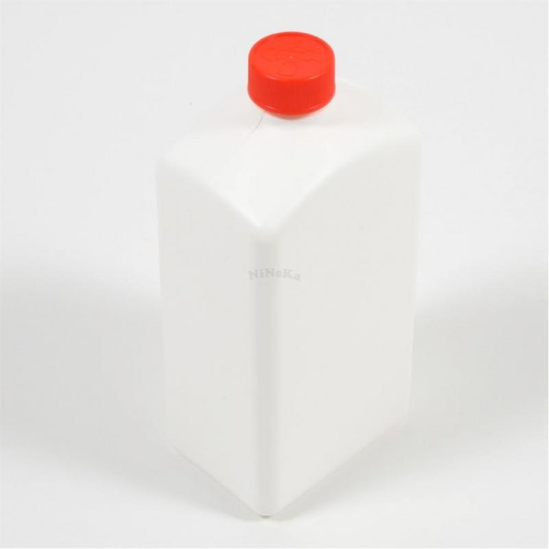 Flasche aus Kunststoff LEER weiß Kunststoffflasche bis 1 Liter mit Deckel rot