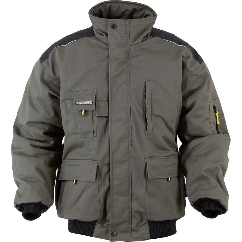 Pilotenjacke Arbeitsjacke Jacke Pilotenjacke oliv/gleb Gr. XXL oliv/gelb/schwarz