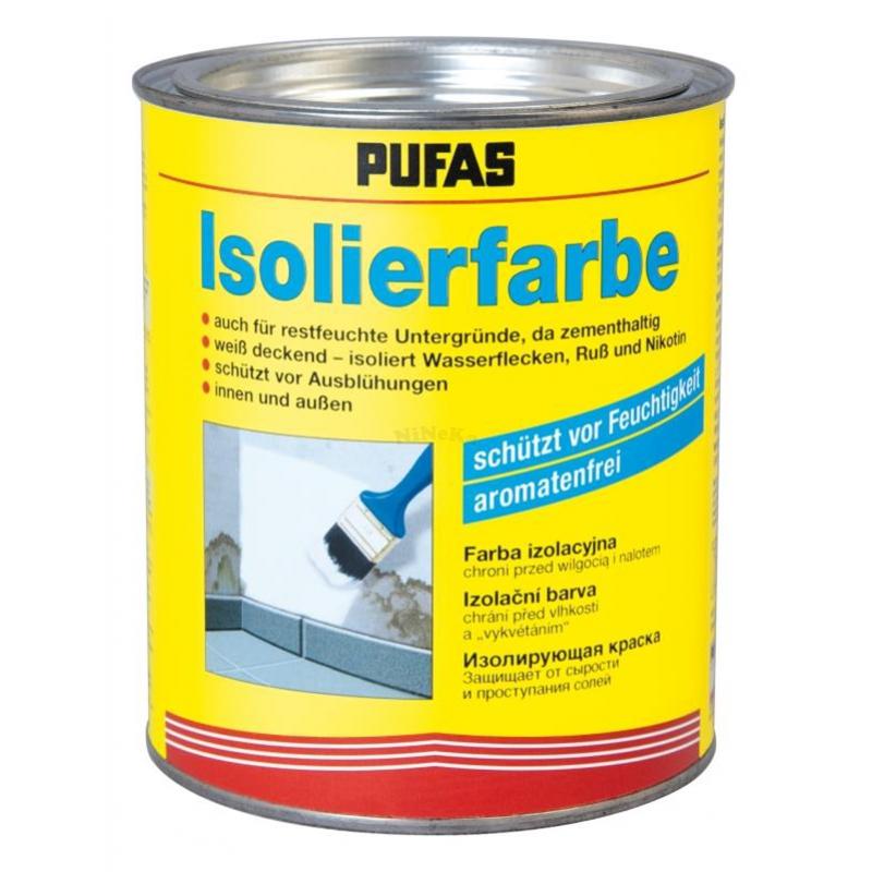isolierfarbe pufas f r innen und au en alkali und sc. Black Bedroom Furniture Sets. Home Design Ideas