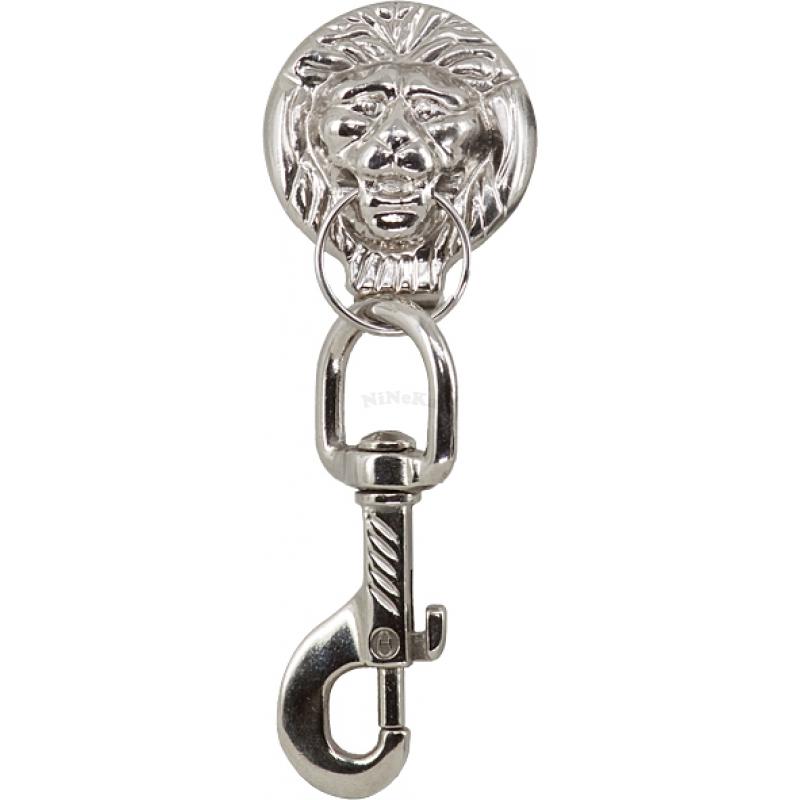 Karabinerhaken Löwenkopf Zunftkleidung Karabiner, Löwenkopf Silber