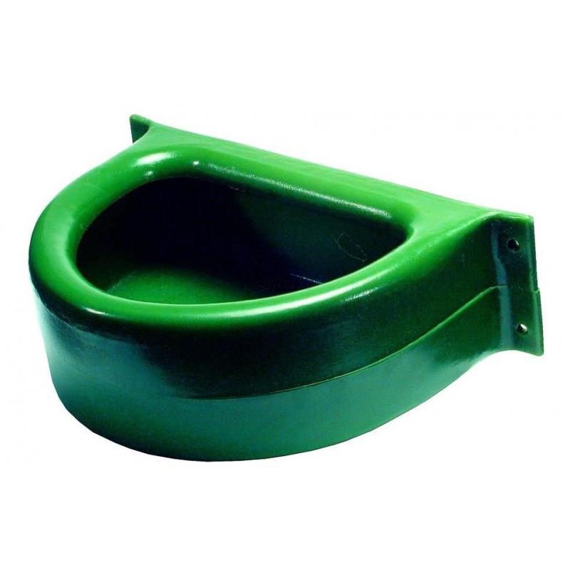 kunststoff trog f r die wand futtertrog pferdetrog 23 liter gr u. Black Bedroom Furniture Sets. Home Design Ideas