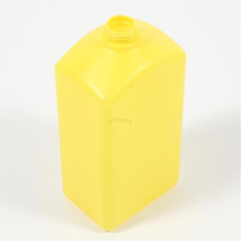 Kunststoffflasche Flasche aus PE-HD Kunststoff LEER bis 1 Liter gelb ohne Deckel