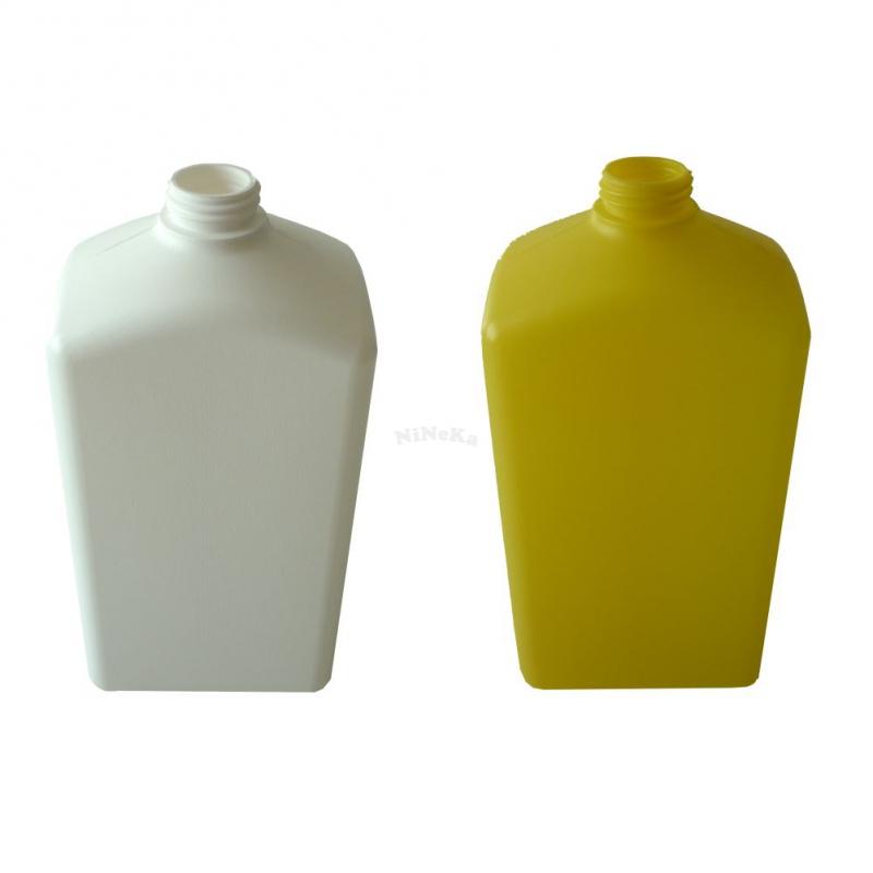 Kunststoffflasche Vierkant Flasche aus Kunststoff PE-HD LEER ohne Deckel