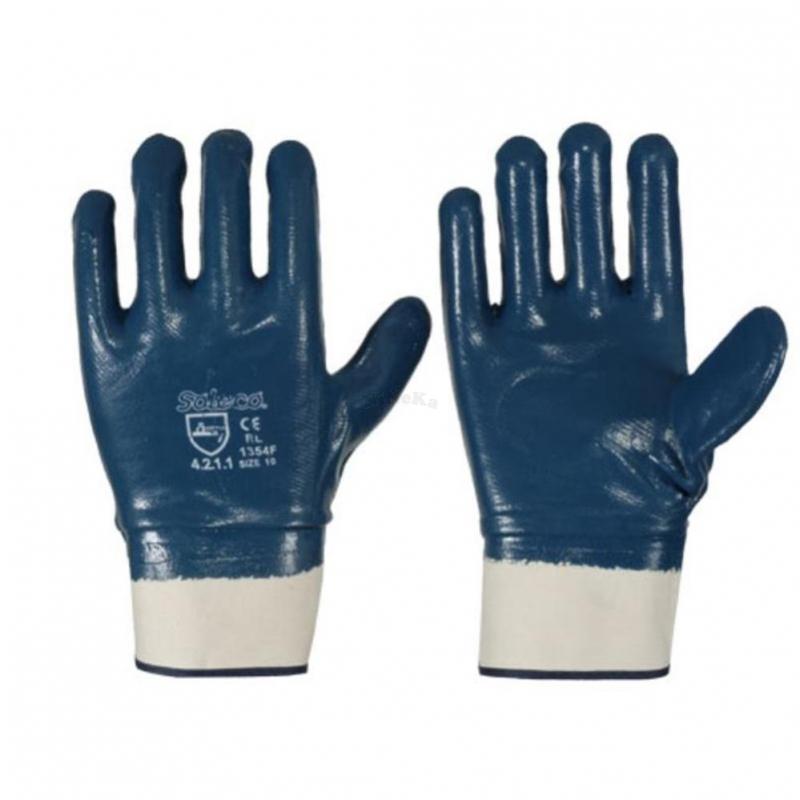 nitril handschuh blau mit stulpe vollbeschichtet ce cat 2. Black Bedroom Furniture Sets. Home Design Ideas