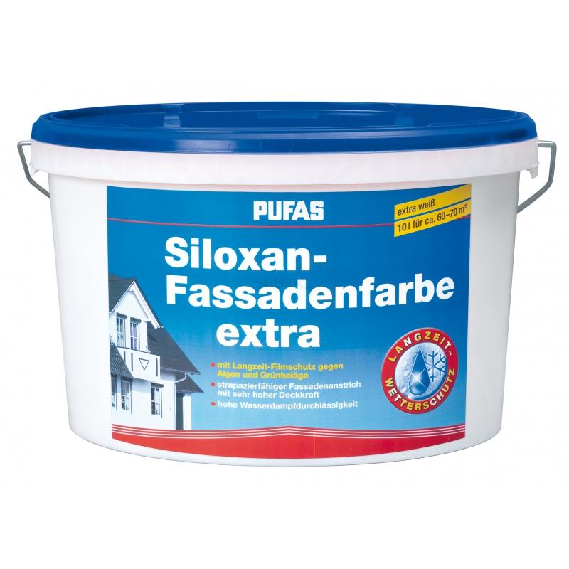 pufas siloxan fassadenfarbe extra acrylat 10 liter. Black Bedroom Furniture Sets. Home Design Ideas