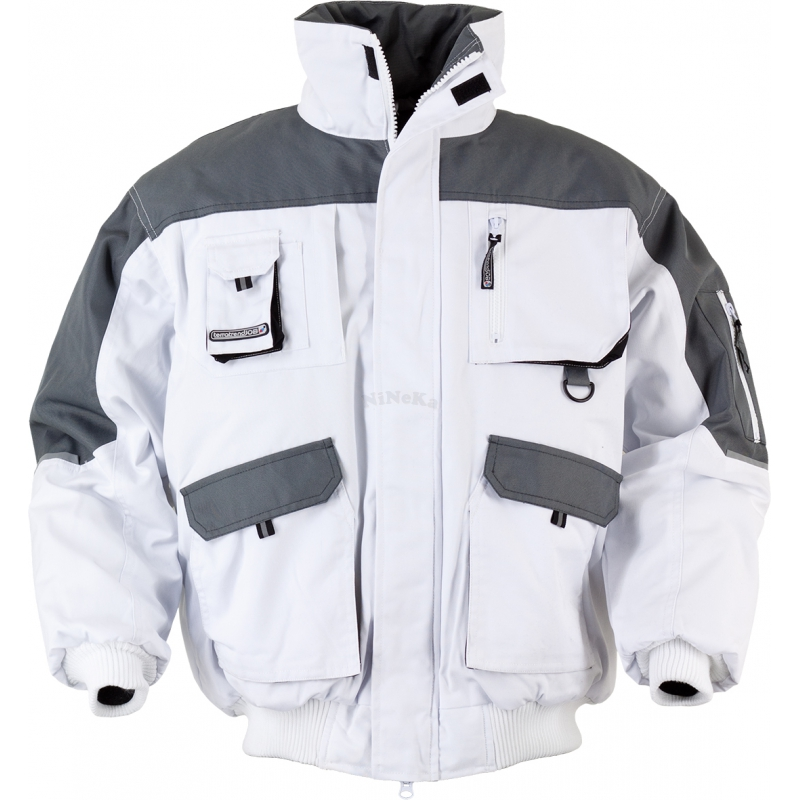 Pilotenjacke Jacke TTJ-Pilotenjacke weiß/grau/schwarz Gr. XXL weiß/grau/schwarz