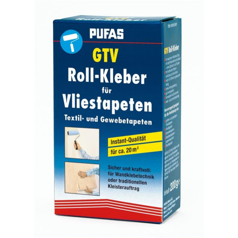 rollkleister gtv roll kleber f r vliestapeten pufas. Black Bedroom Furniture Sets. Home Design Ideas