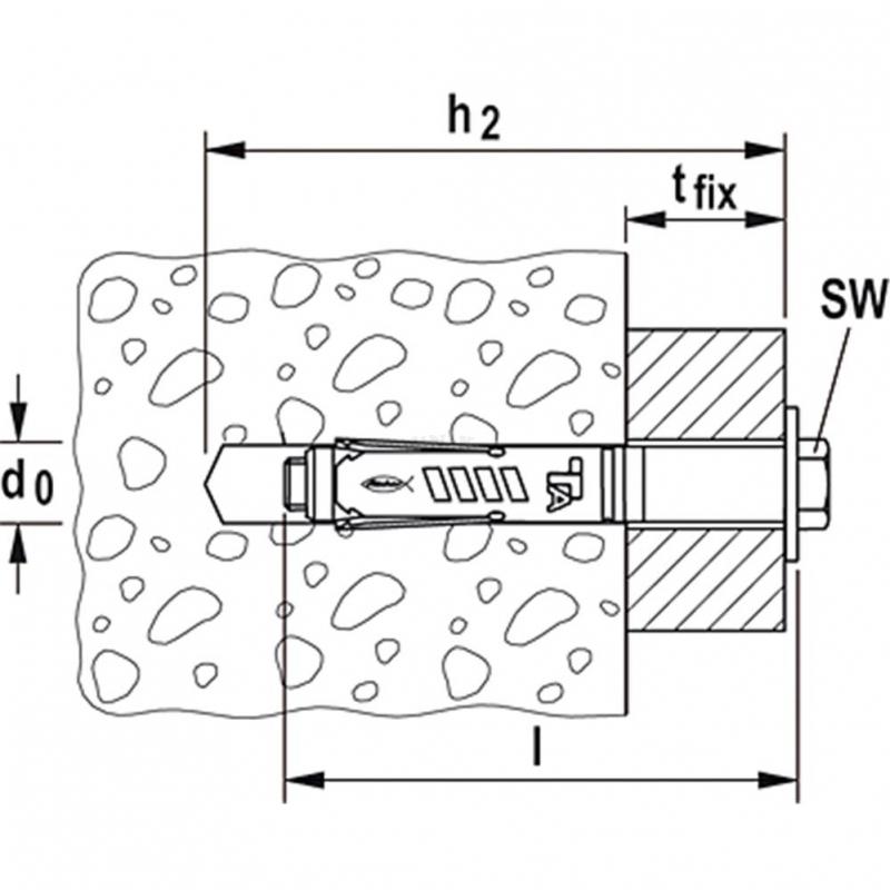 schwerlastanker fischer d bel durchsteckanker ta m t. Black Bedroom Furniture Sets. Home Design Ideas