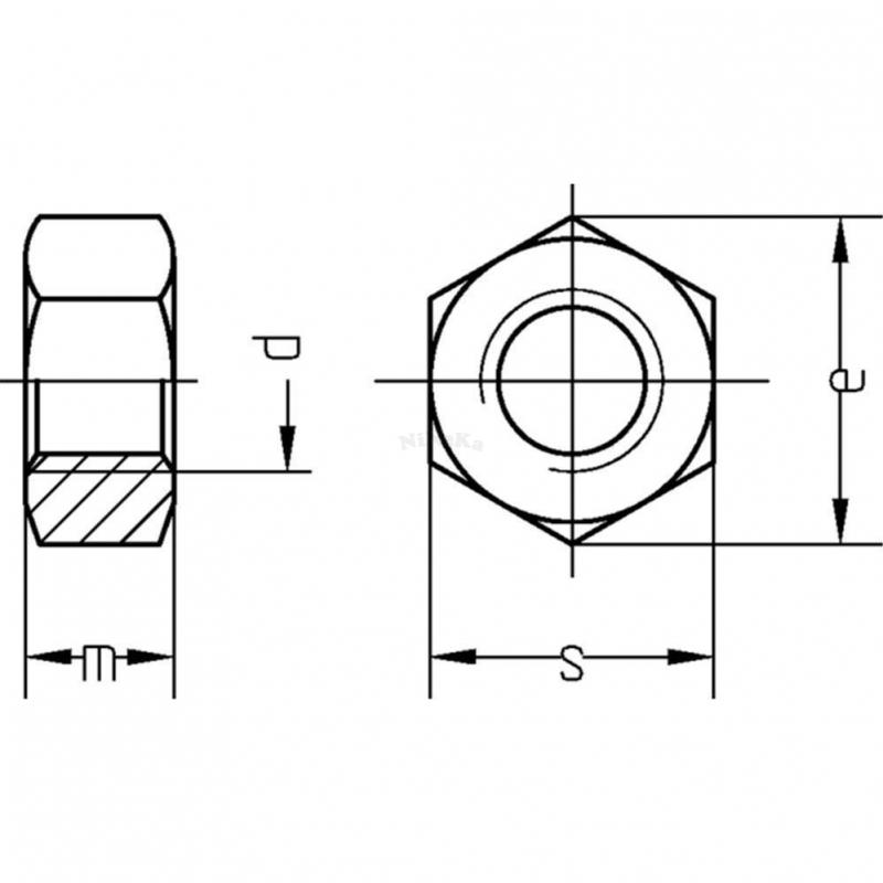 sechskantmuttern mutter feingewinde din 934 din en iso 8673 kl 8 s. Black Bedroom Furniture Sets. Home Design Ideas