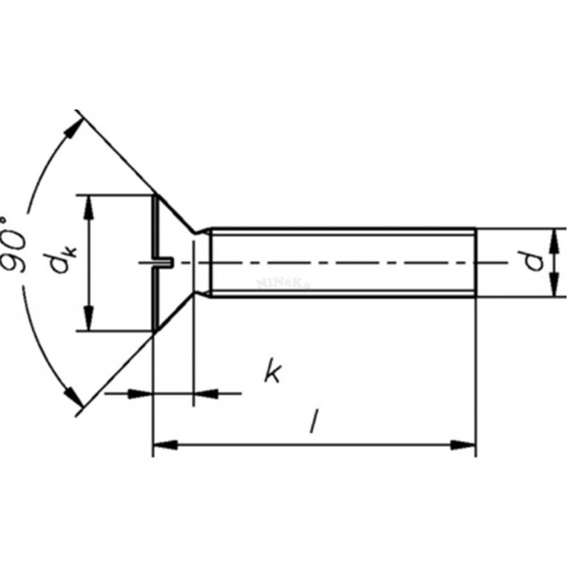 Senkschrauben mit Schlitz DIN 963 - DIN EN ISO 2009 A2 - M4x12 - 2000 Stk