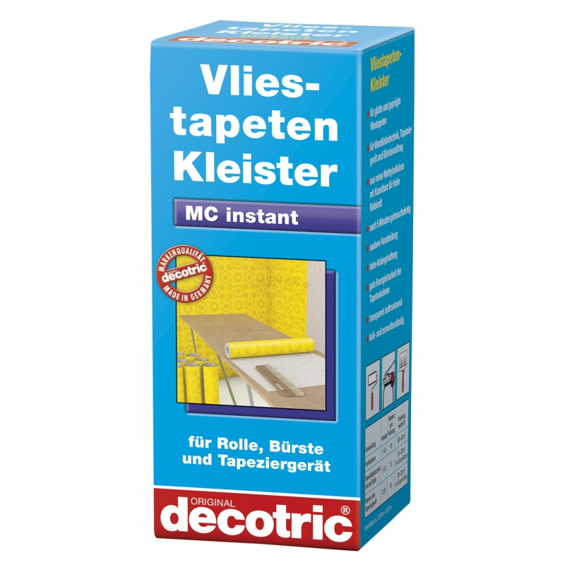 vliestapeten kleister kleben tapezieren decotric 200g. Black Bedroom Furniture Sets. Home Design Ideas