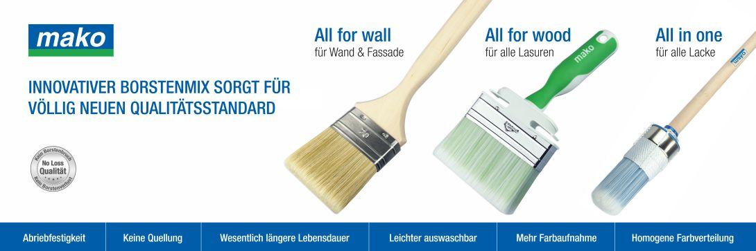 Profi Pinsel für Farben, Lasuren und Lacke